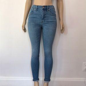 "Madewell 10"" High Riser Skinny Skinny size 28"